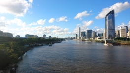 La Brisbane river depuis le Goodwill Bridge