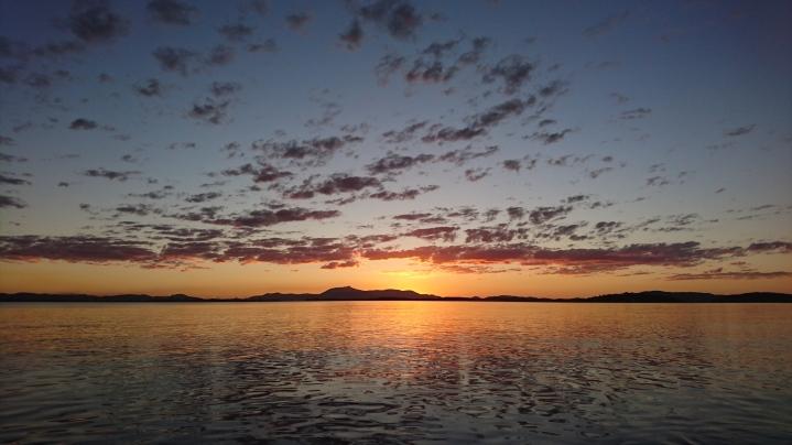 Un des innombrables couchers de soleil, Quoin Island