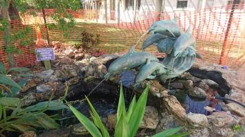 La fontaine du complexe hôtelier, Quoin Island