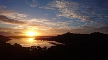Coucher de soleil sur les volcans, Tower Hill State Reserve