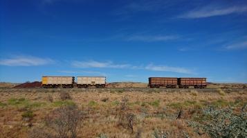 Wagons abandonnés au Nord du Pilbara, WA
