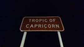 Passage du Tropique du Capricorne de nuit. WA