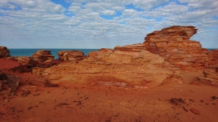 Le haut de la falaise, Gantheaume Point, Broome