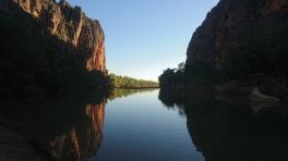 Windjana Gorge, habitat de 250 crocodiles de Johnston, WA