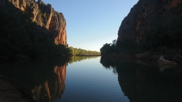 Windjana Gorge, habitat de 250 crocodiles de Johnston, WA