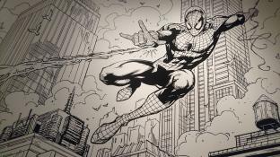 Spider-Man dessiné par Wayne Nichols, dessinateur australien de comics ayant beaucoup travaillé notamment sur les univers de Marvel ou Star Wars, mais aussi sur la série Orphan Black. J'en profite pour faire de la pub pour cette série, ma préférée, regardez la :) Expo Marvel, Brisbane