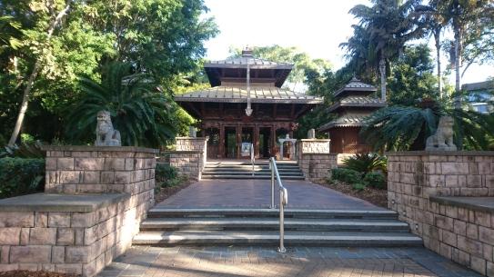 Pagode népalaise de l'exposition universelle de 1988. South Bank, Brisbane