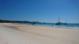 Whitehaven Beach, apparemment classée parmi les dix plus belles plages du monde. Whitsunday Island