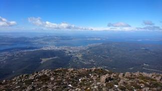Vue sur Hobart depuis le sommet du Mont Wellington